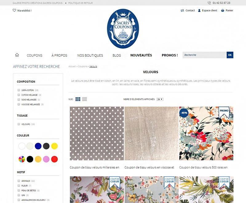 24aaf5aeb5de50 Création site internet de mercerie   L Agence E-commerce