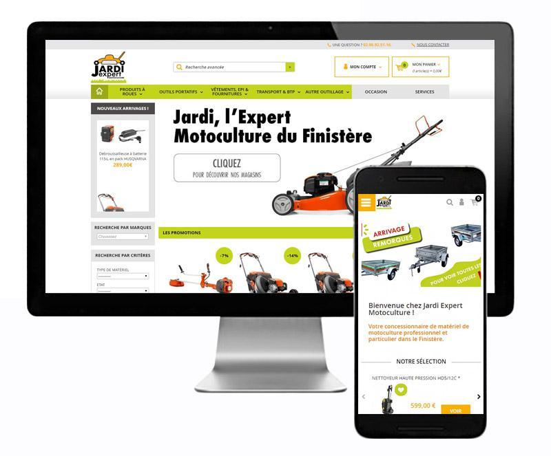 Création site internet de motoculture   L'Agence E-commerce