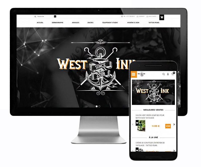 Création site internet matériel professionnel tatouage   L