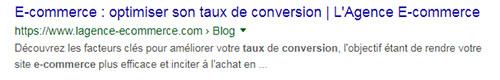 SEO : optimiser Title et meta description pour plus de visibilité sur Google | L'Agence E-commerce
