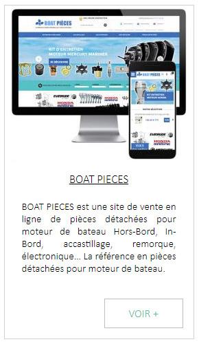 Création de site internet de pièces détachées pour bateau