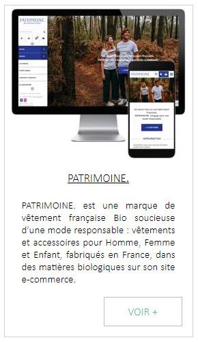Création de site internet marque de vetement francais bio
