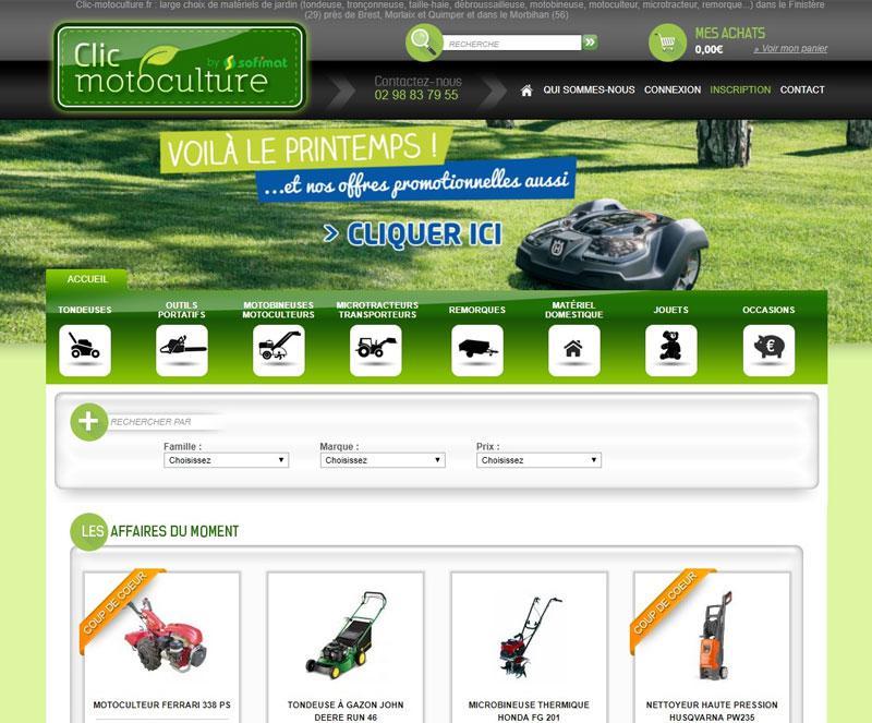 540baa17f3c Création site internet de matériel jardin