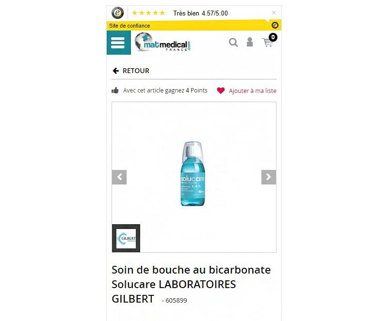 Fiche article mobile de Mat Médical France