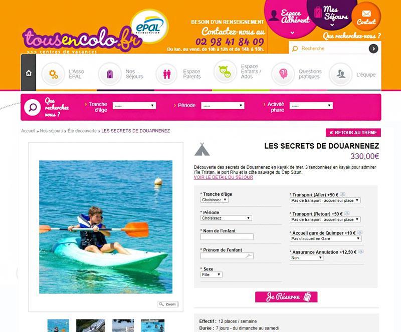 04a796b5f41 Création site internet pour colonies de vacances