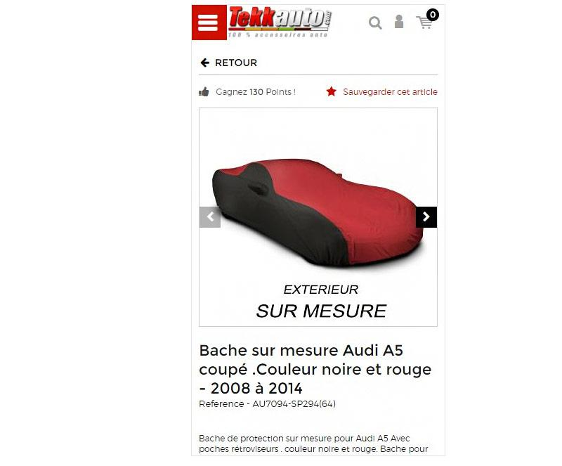 Fiche article mobile de Tekkauto