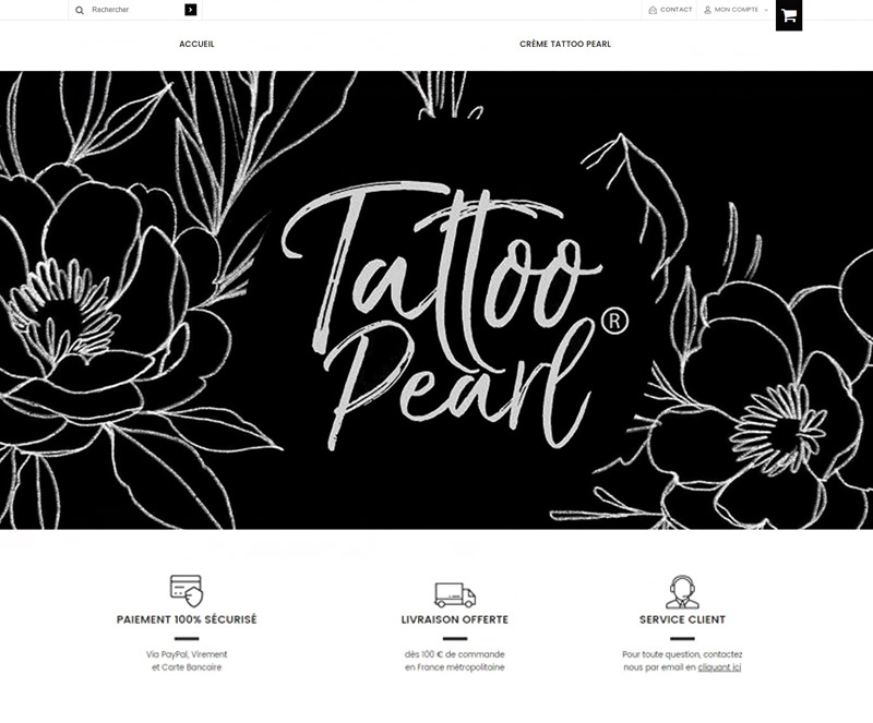 Page d'accueil Tattoo Pearl